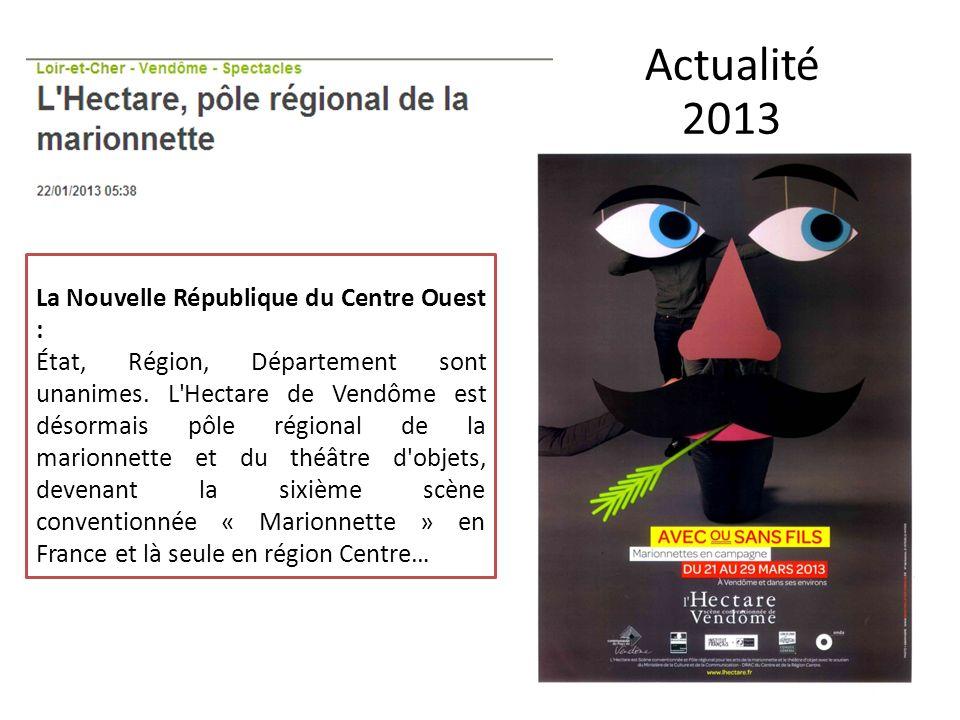 Actualité 2013 La Nouvelle République du Centre Ouest :