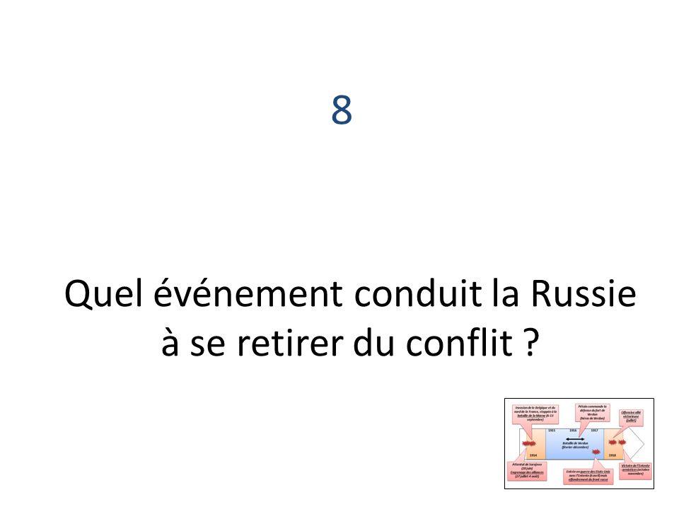 Quel événement conduit la Russie à se retirer du conflit
