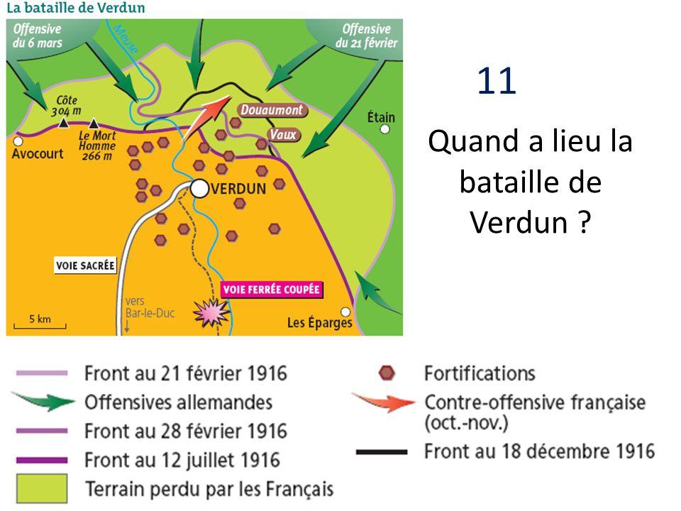Quand a lieu la bataille de Verdun