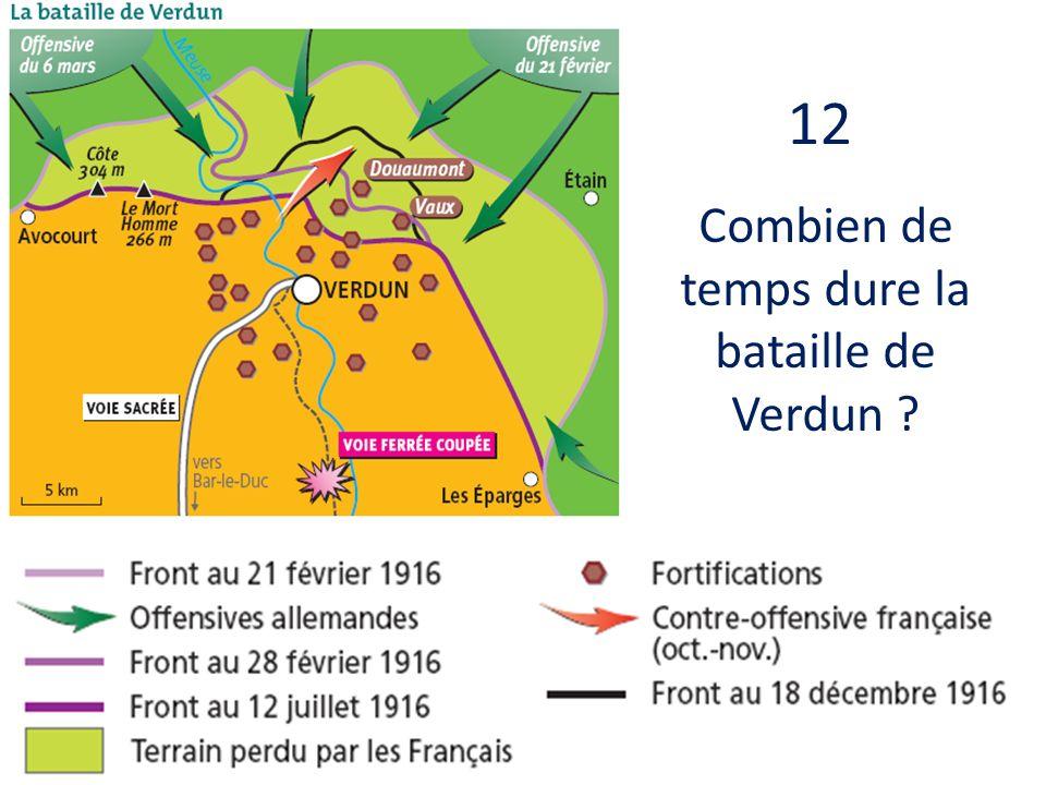 Combien de temps dure la bataille de Verdun