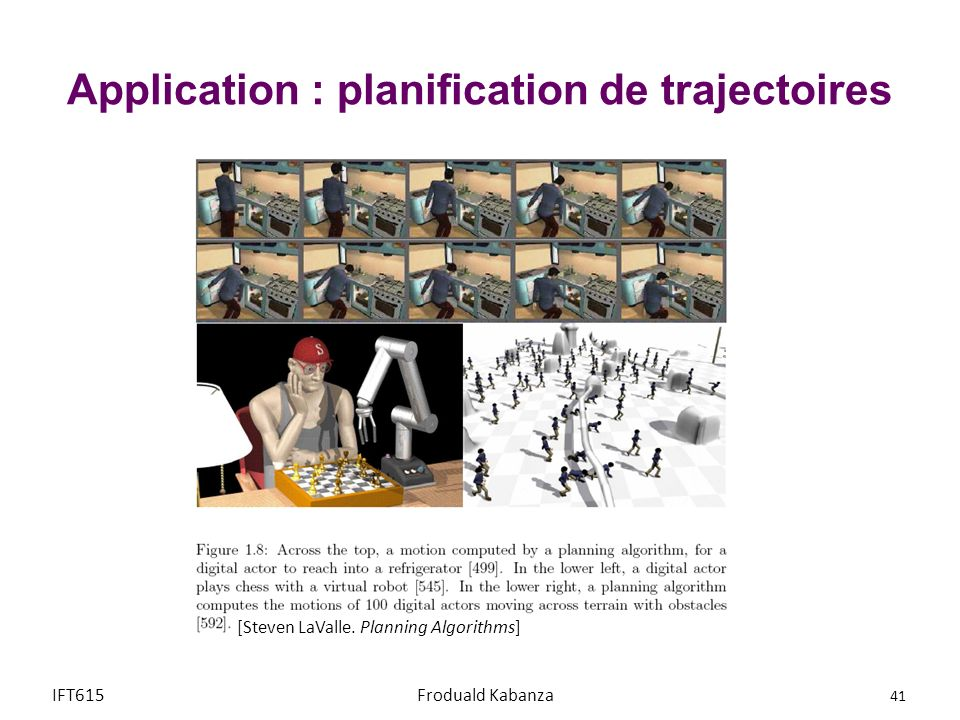 Application : planification de trajectoires