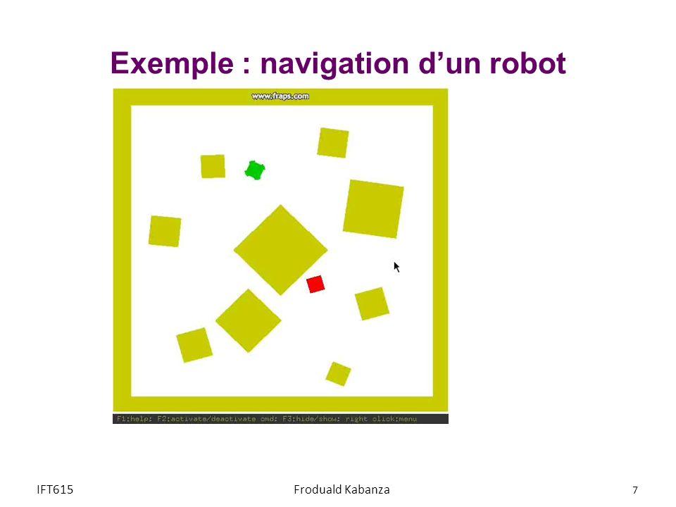 Exemple : navigation d'un robot