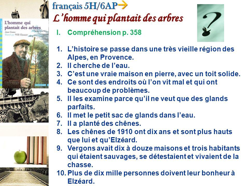français 5H/6AP L'homme qui plantait des arbres