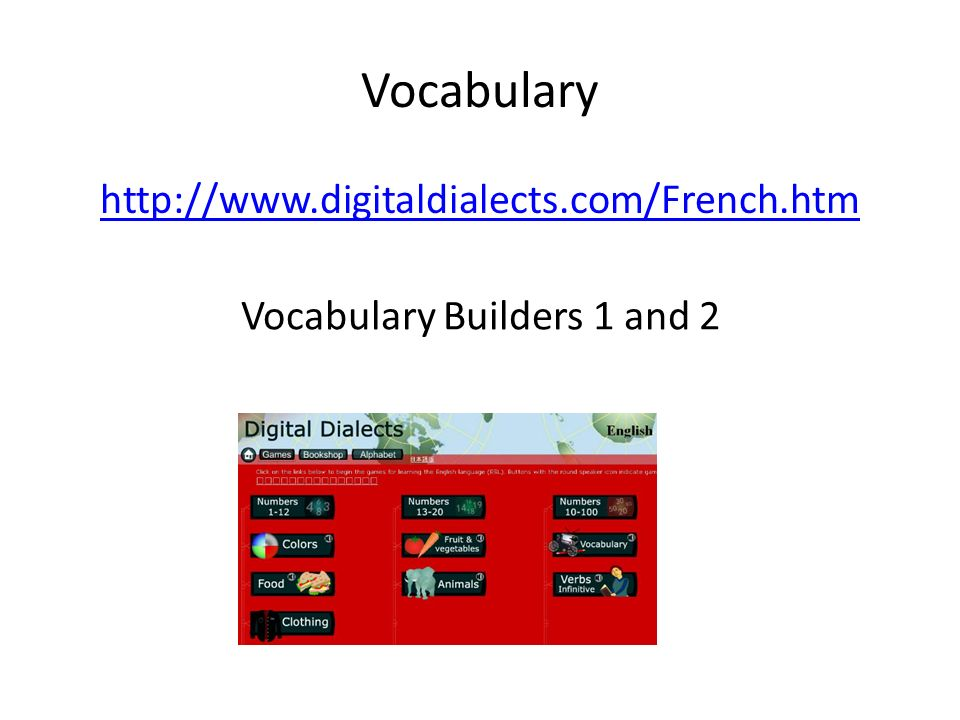 Vocabulary Builders 1 and 2