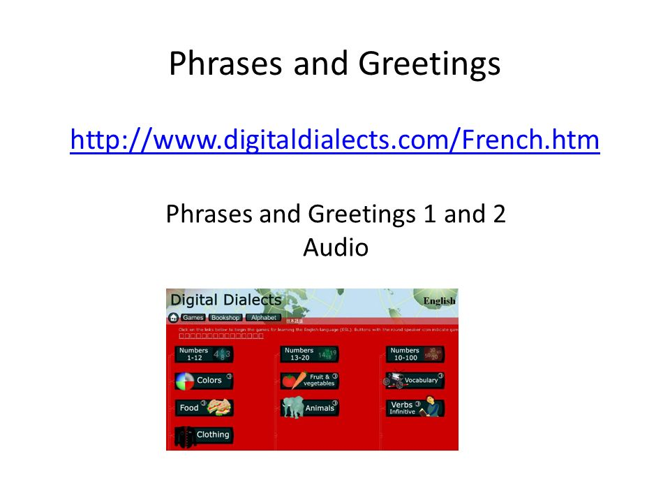 Phrases and Greetings 1 and 2