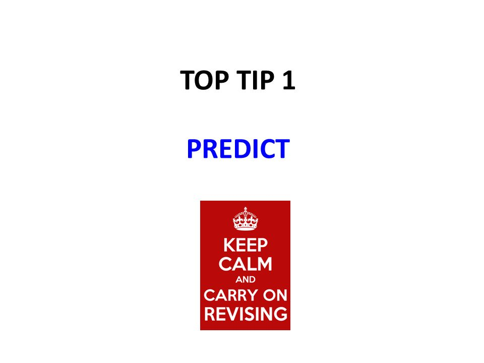 TOP TIP 1 PREDICT