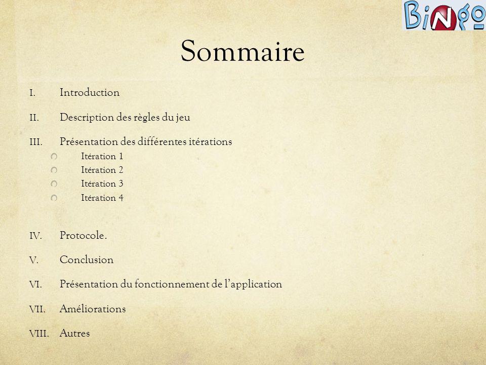 Sommaire Introduction Description des règles du jeu