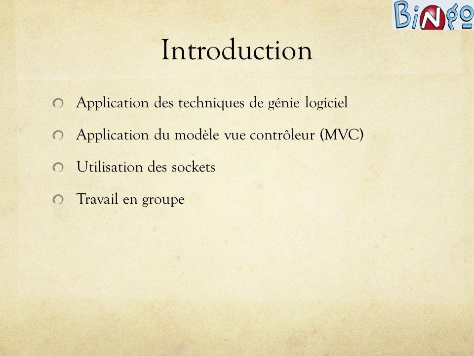 Introduction Application des techniques de génie logiciel