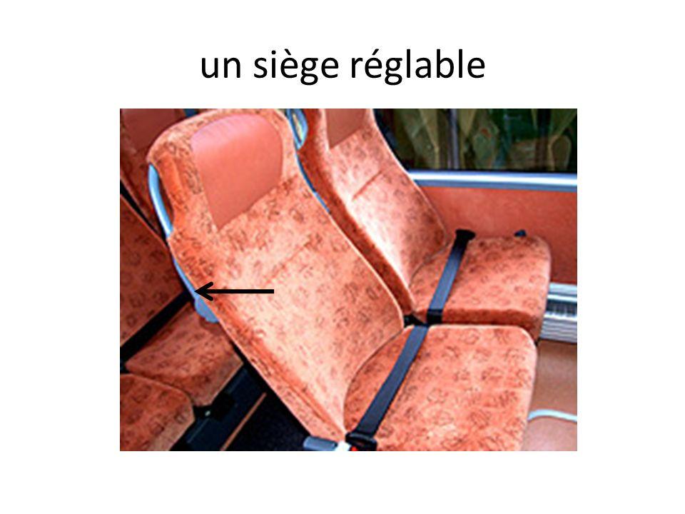un siège réglable