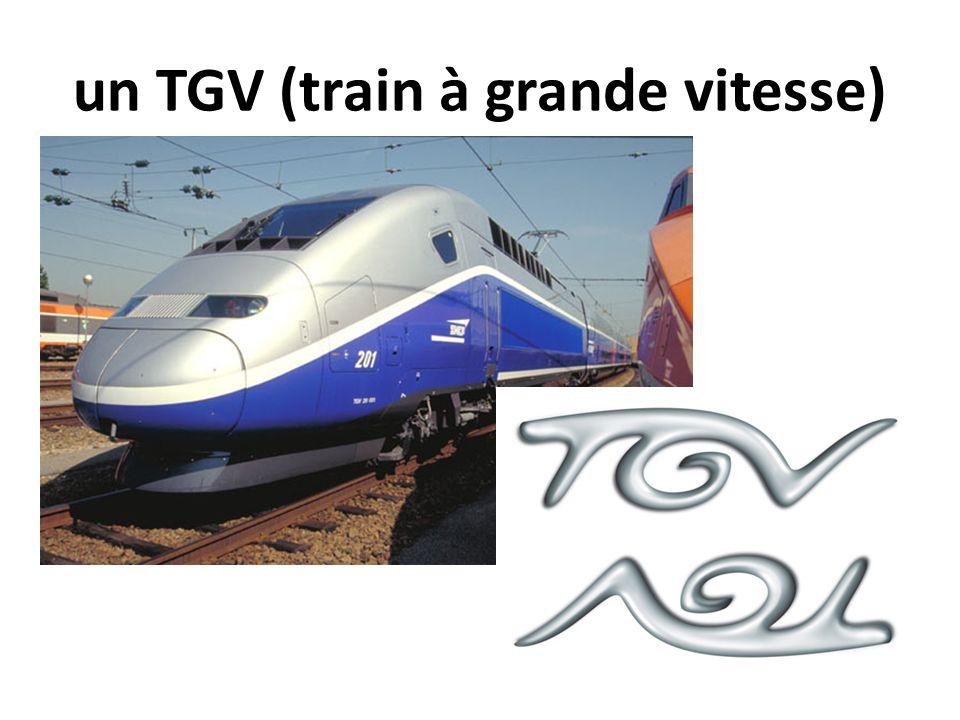 un TGV (train à grande vitesse)