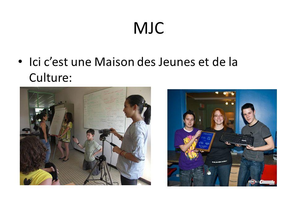 MJC Ici c'est une Maison des Jeunes et de la Culture: