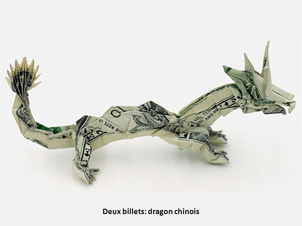 Deux billets: dragon chinois