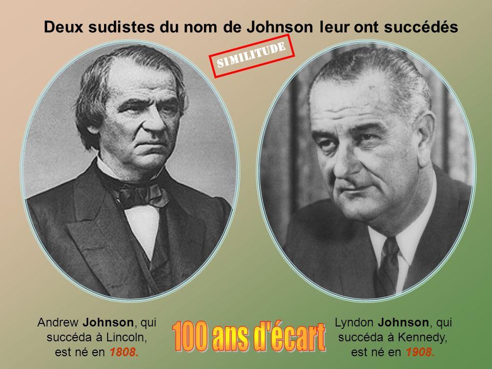 Deux sudistes du nom de Johnson leur ont succédés