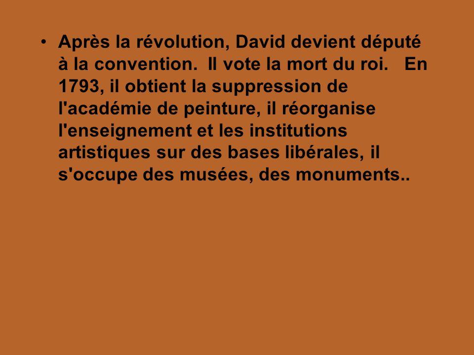 Après la révolution, David devient député à la convention
