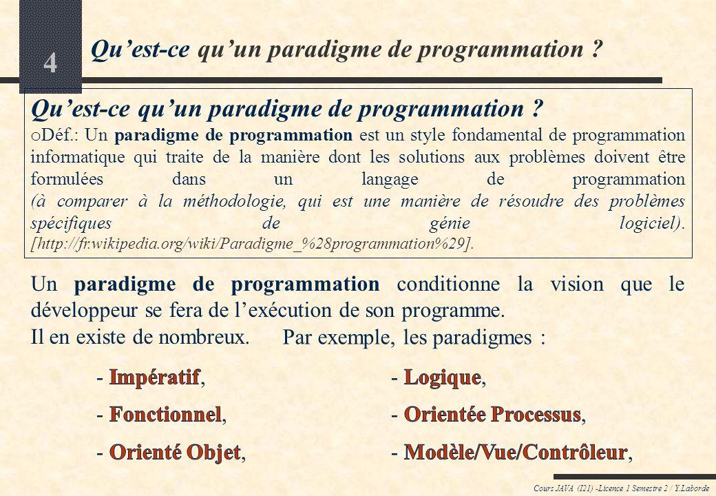 Qu'est-ce qu'un paradigme de programmation