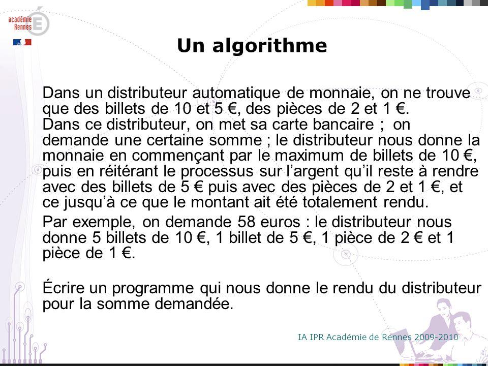 Un algorithme