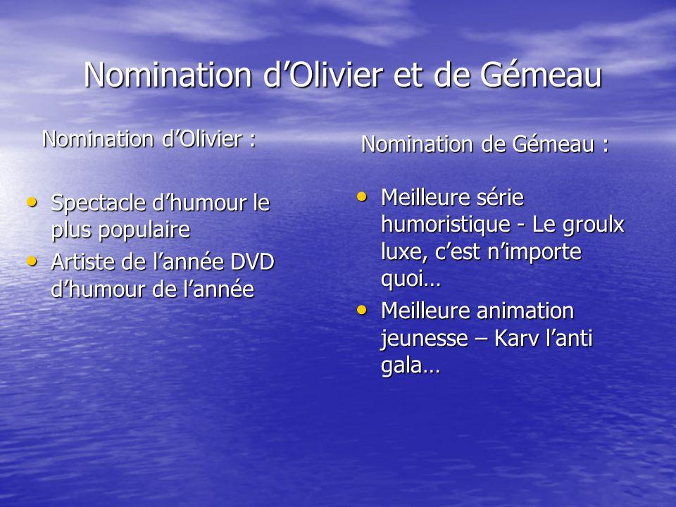 Nomination d'Olivier et de Gémeau
