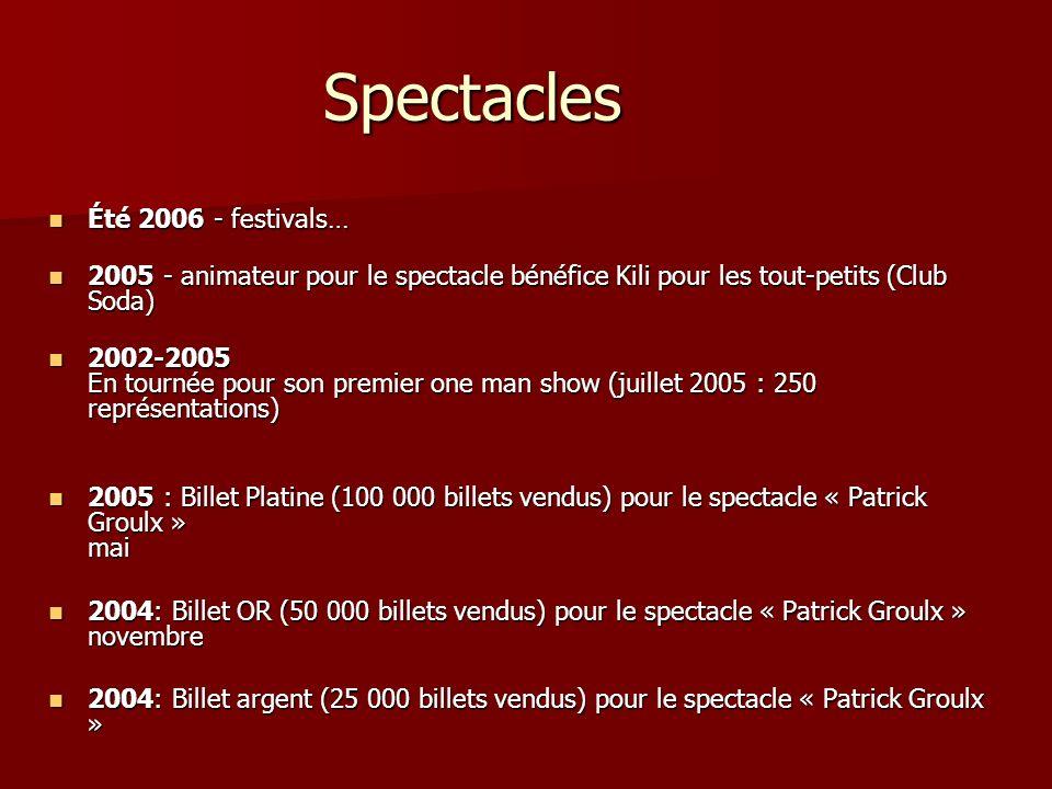 Spectacles Été 2006 - festivals…