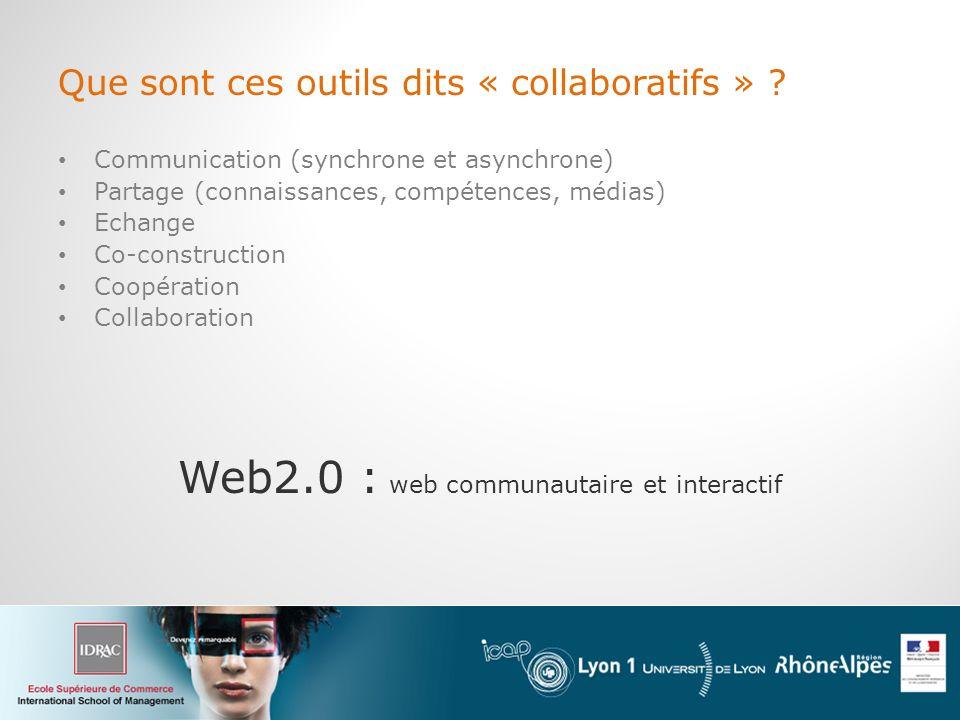 Web2.0 : web communautaire et interactif