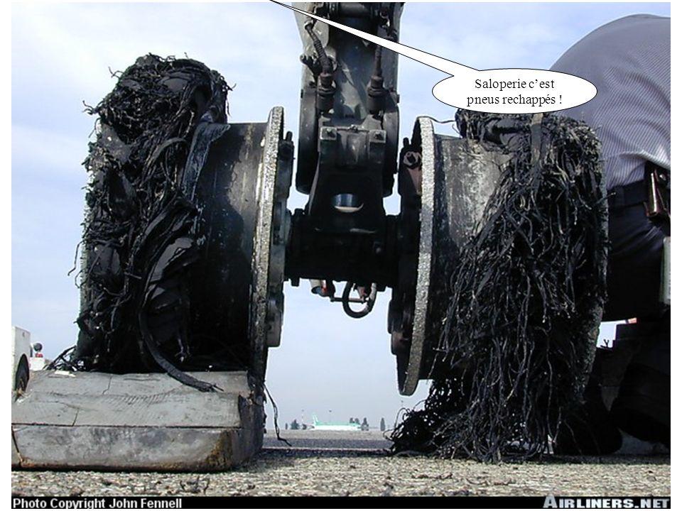 Saloperie c'est pneus rechappés !