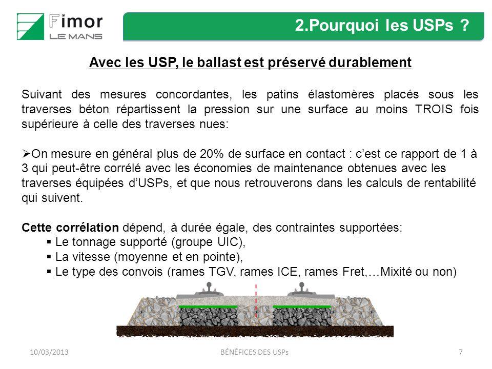 Avec les USP, le ballast est préservé durablement