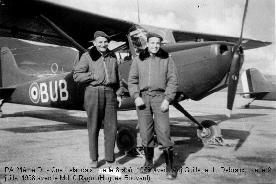 PA 21ème DI - Cne Lelandais, tué le 8 août 1958 avec l'Adj Guille, et Lt Debraux, tué le 2 juillet 1958 avec le MdLC Ragot (Hugues Bouvard)