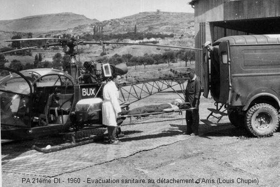 PA 21ème DI - 1960 - Evacuation sanitaire au détachement d'Arris (Louis Chupin)