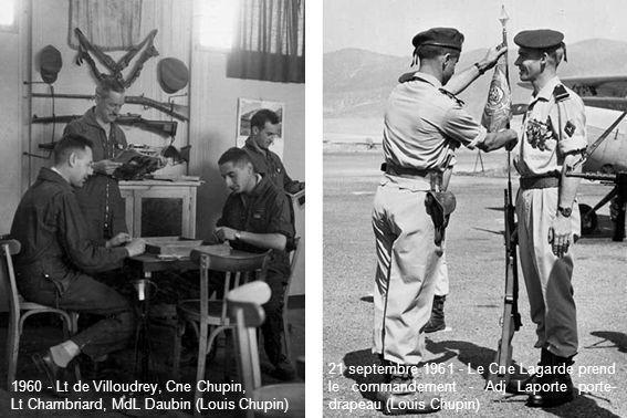 21 septembre 1961 - Le Cne Lagarde prend le commandement - Adj Laporte porte-drapeau (Louis Chupin)