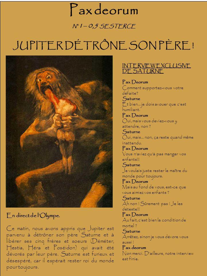 JUPITER DÉTRÔNE SON PÈRE !