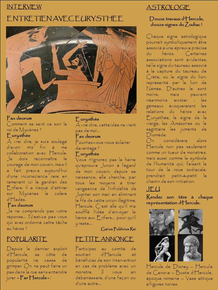 Douze travaux d'Hercule, douze signes du Zodiac !