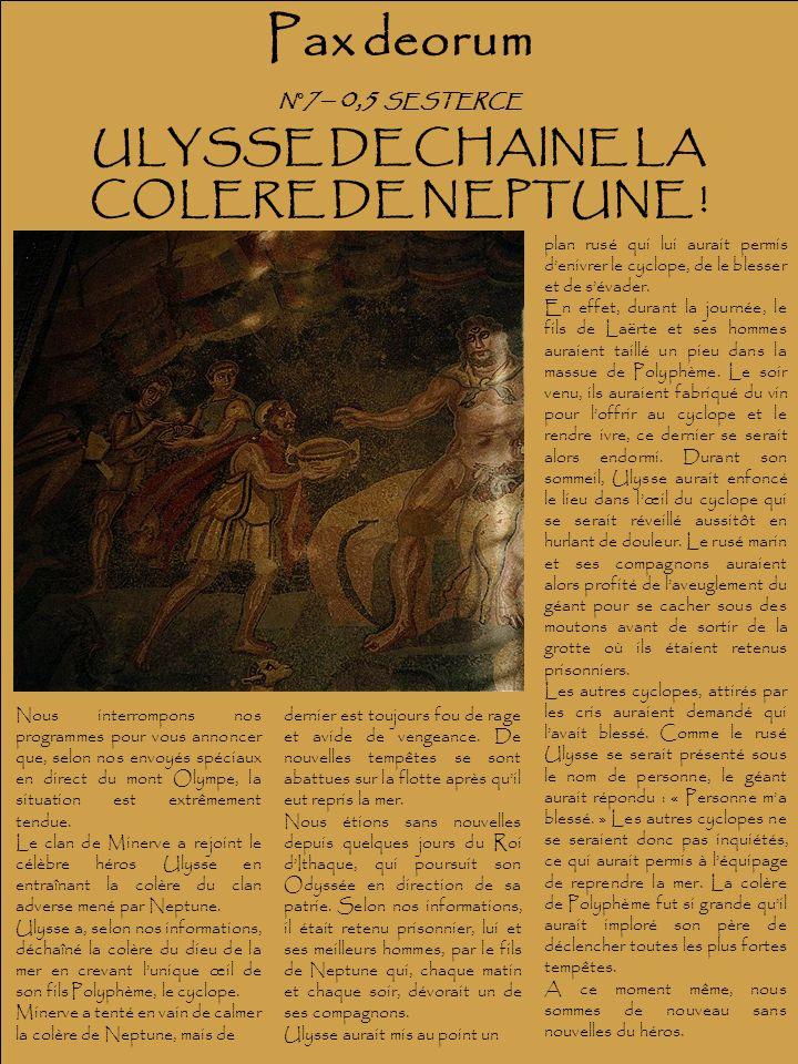 ULYSSE DECHAINE LA COLERE DE NEPTUNE !