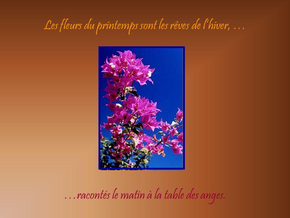 Les fleurs du printemps sont les rêves de l'hiver, …