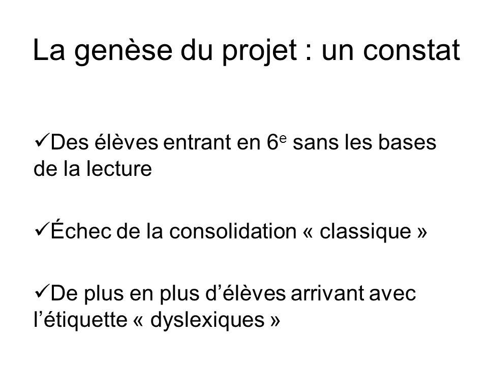 La genèse du projet : un constat