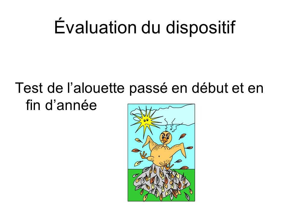 Évaluation du dispositif
