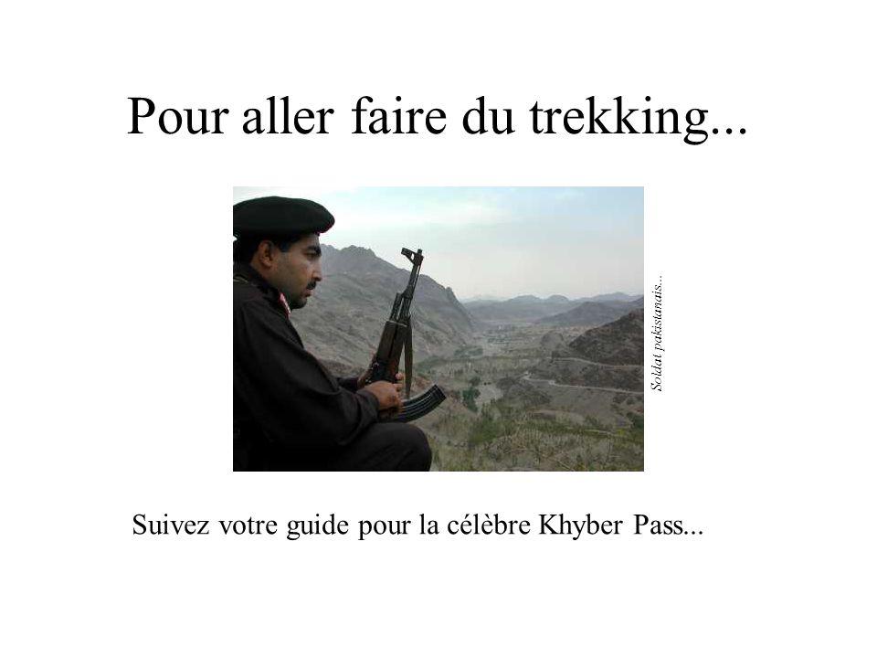 Pour aller faire du trekking...