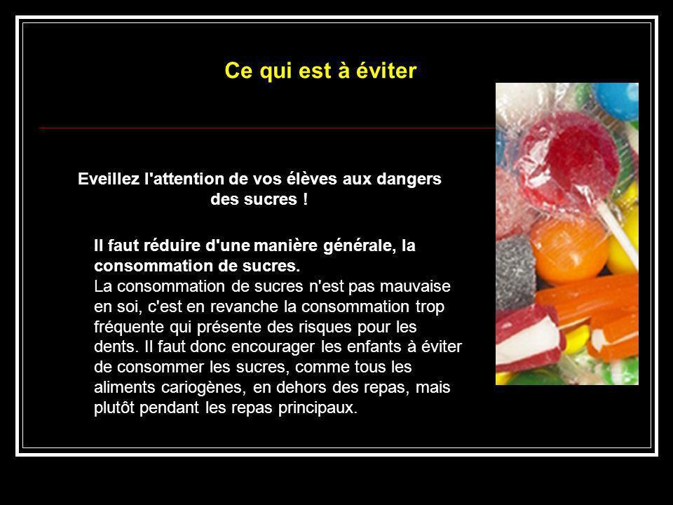 Eveillez l attention de vos élèves aux dangers des sucres !