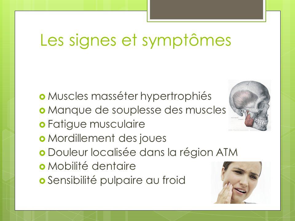 Les signes et symptômes