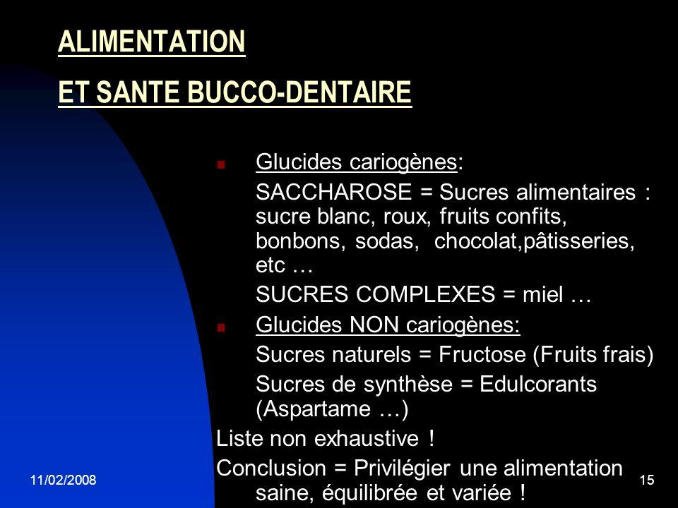 ALIMENTATION ET SANTE BUCCO-DENTAIRE