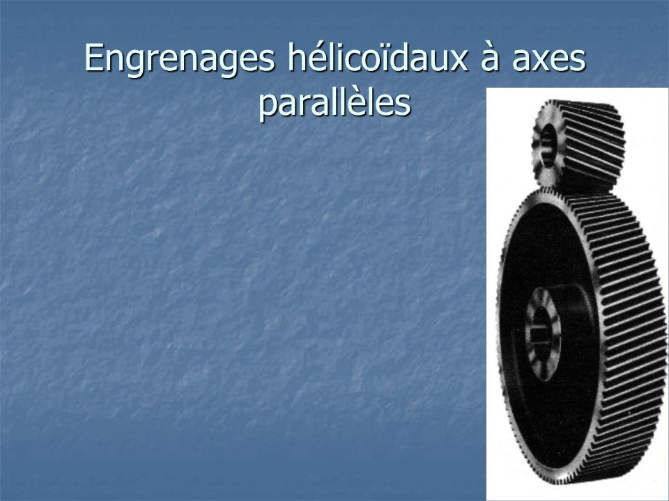 Engrenages hélicoïdaux à axes parallèles