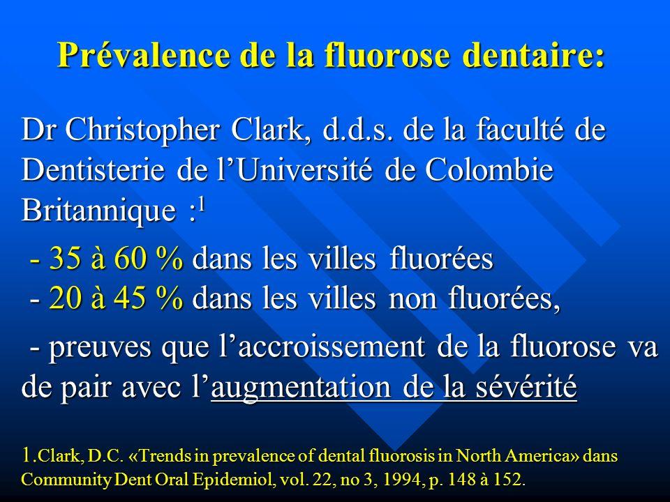 Prévalence de la fluorose dentaire: