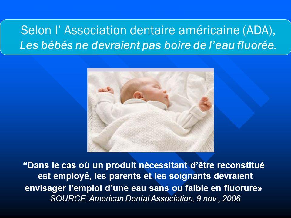 Selon l' Association dentaire américaine (ADA),