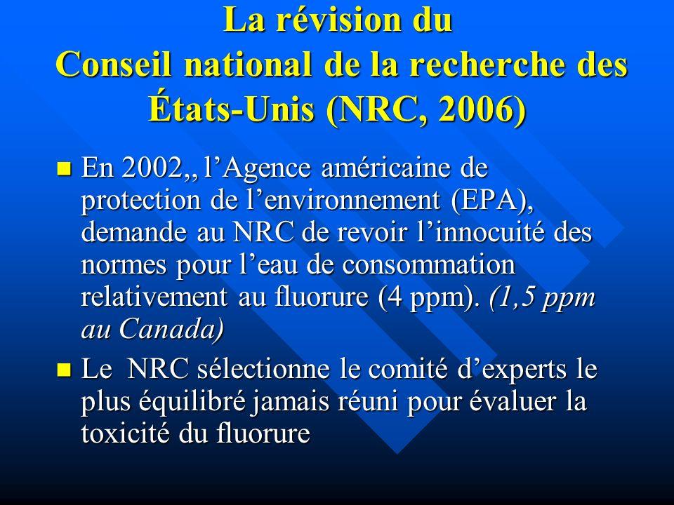 La révision du Conseil national de la recherche des États-Unis (NRC, 2006)