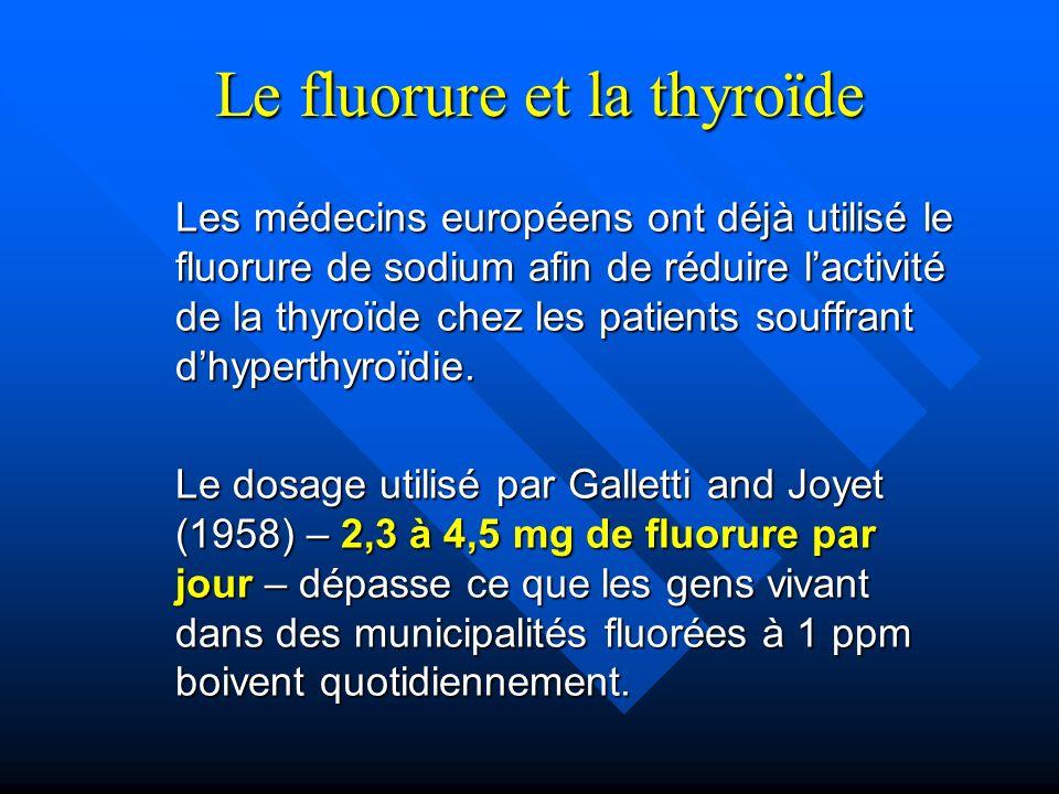 Le fluorure et la thyroïde