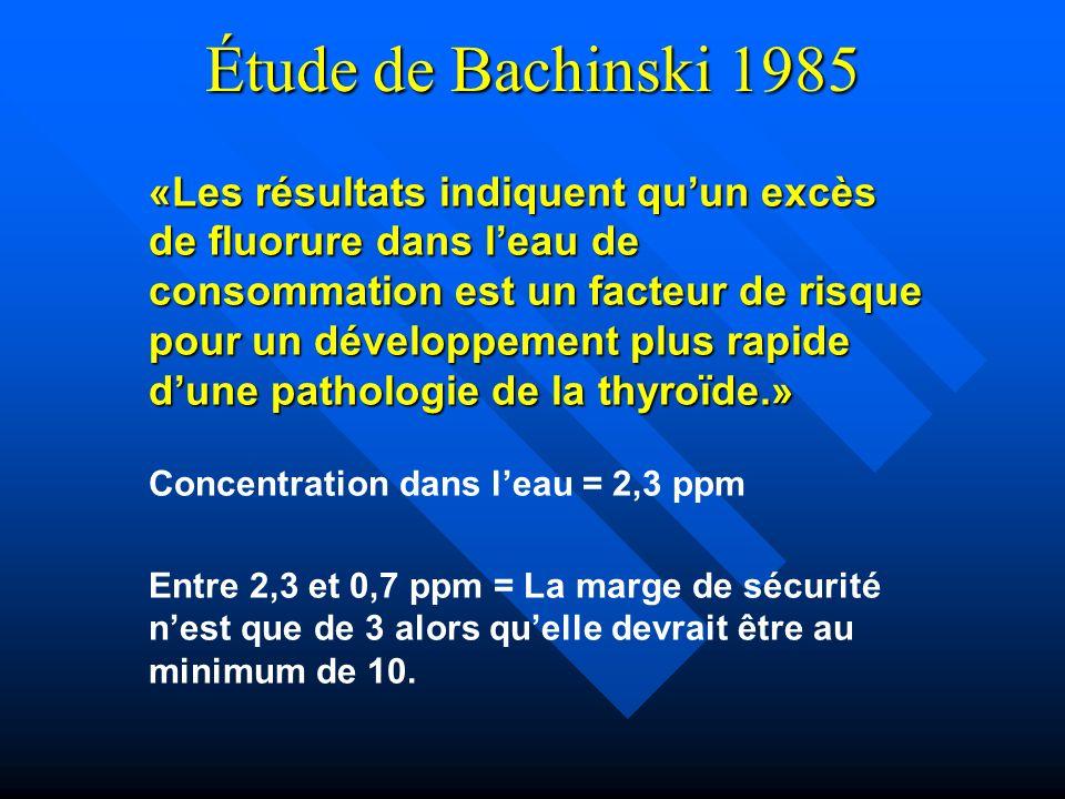 Étude de Bachinski 1985