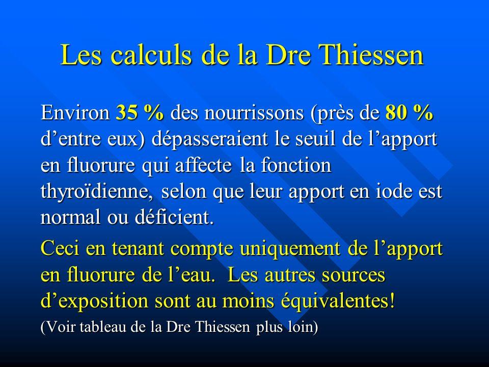 Les calculs de la Dre Thiessen