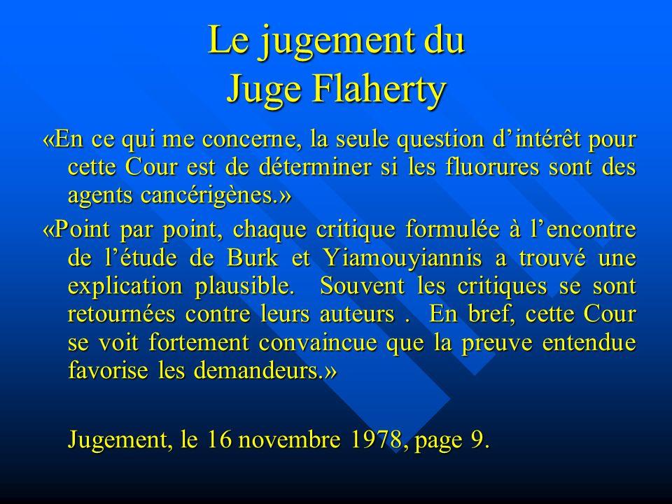 Le jugement du Juge Flaherty