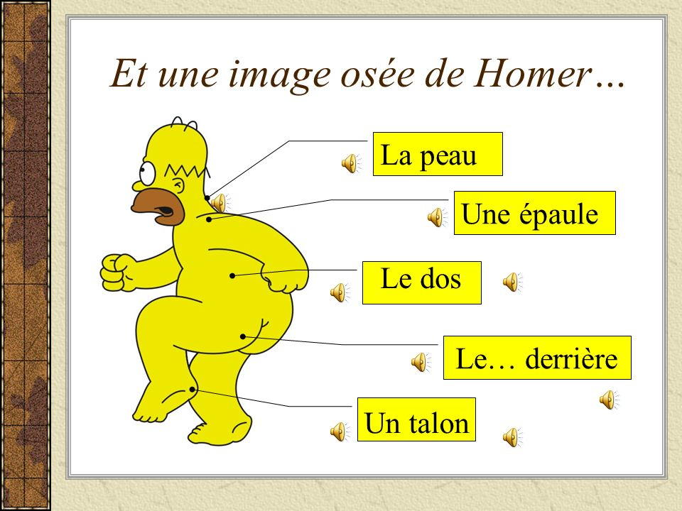 Et une image osée de Homer…