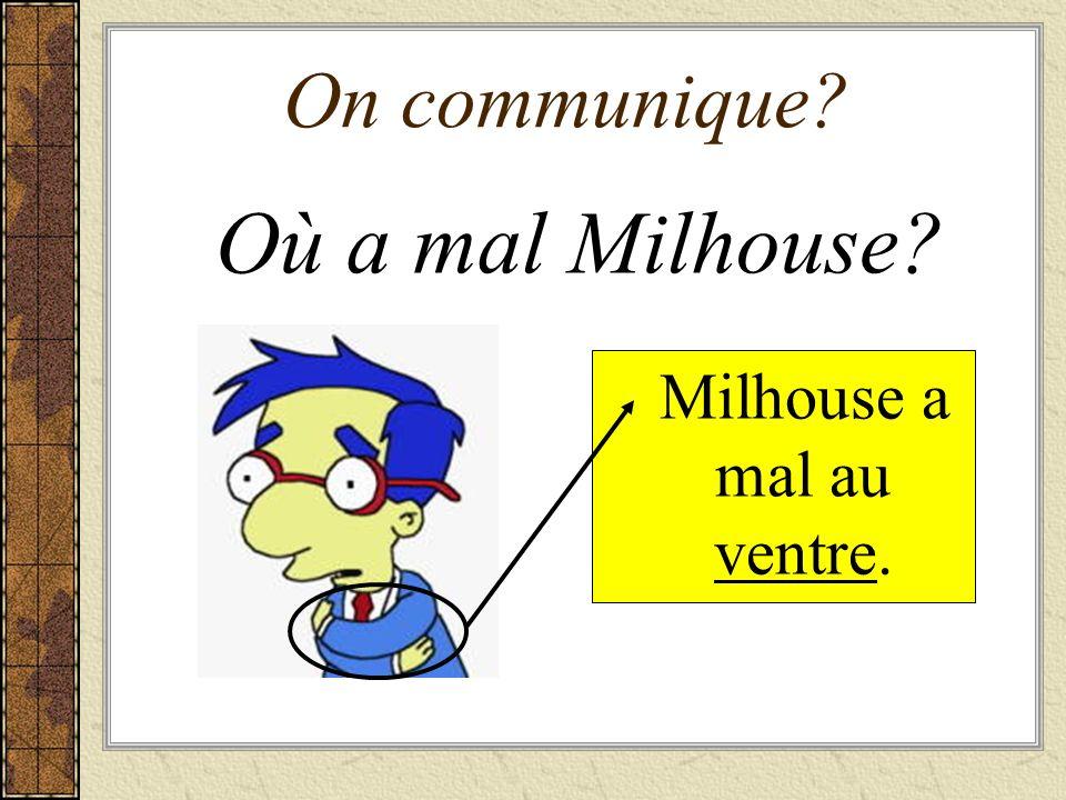 Milhouse a mal au ventre.