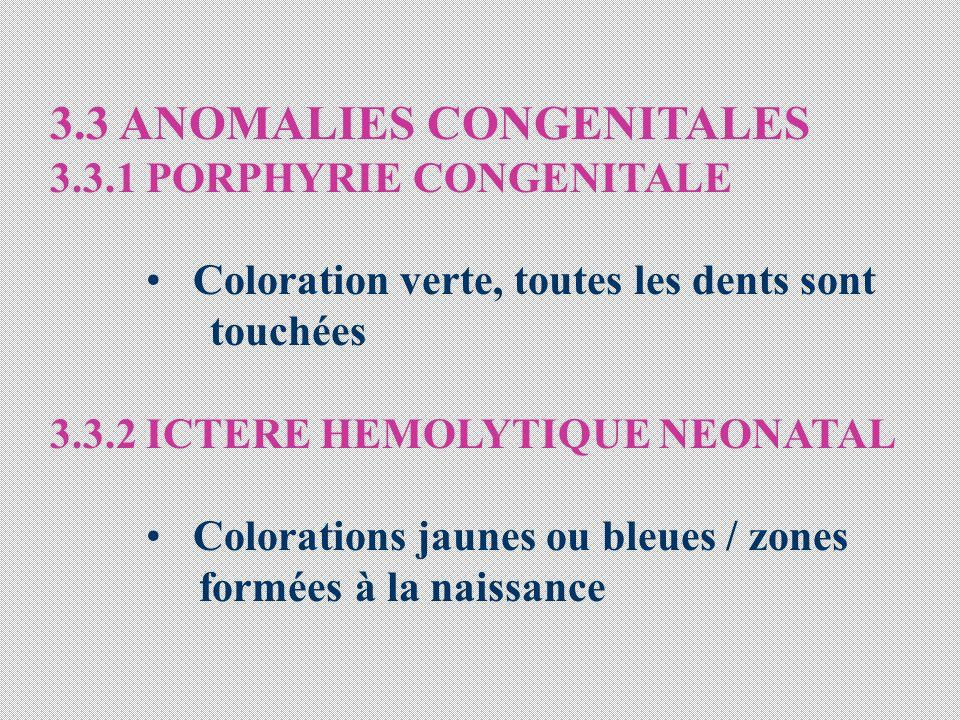 3.3 ANOMALIES CONGENITALES