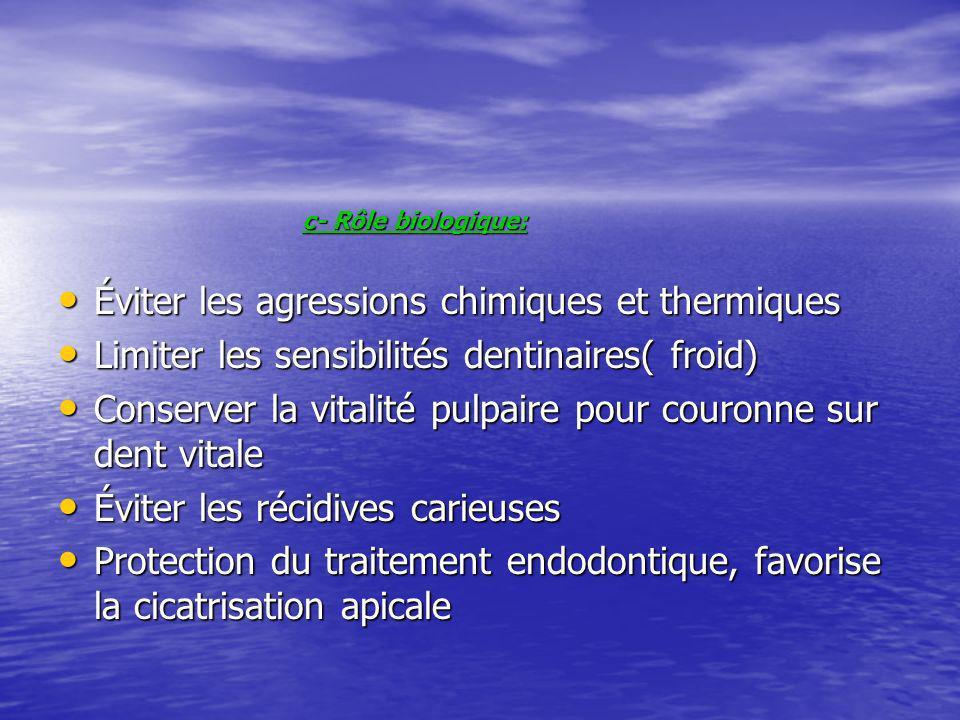 Éviter les agressions chimiques et thermiques